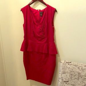 Torrid Red Peplum Dress